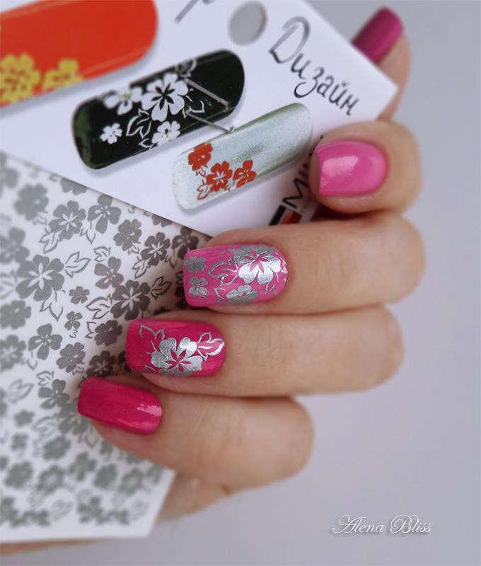 Дизайн слайдер на ногтях